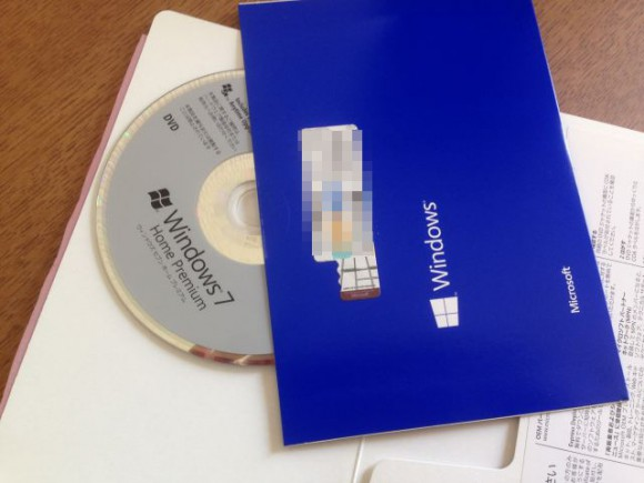 Windows7 Home Premium。インストールディスク