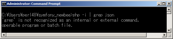 'grep' is not recognized as an internal or external command, operable program or batch file.