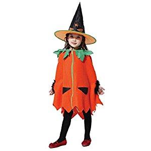 かぼちゃをモチーフにした子供用ハロウィンコスプレ