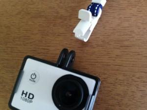 所要時間5分!アクションカメラSJ4000を100均アイテムで釣り撮影用にカスタマイズしてみた