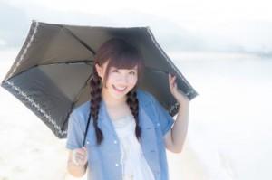 日傘をさす女