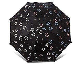 水に当たると花の色が変わる!?晴雨兼用の不思議な日傘